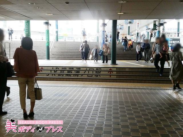 溝口駅階段