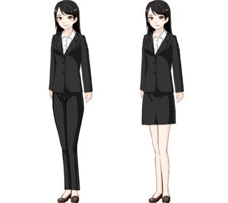 女性のスーツ、パンツorスカート