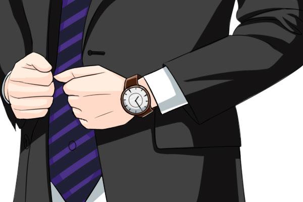 面接の際の時計はシンプルに