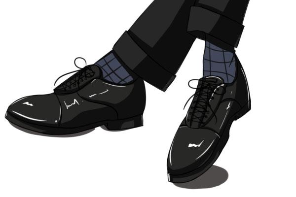 スーツには革靴
