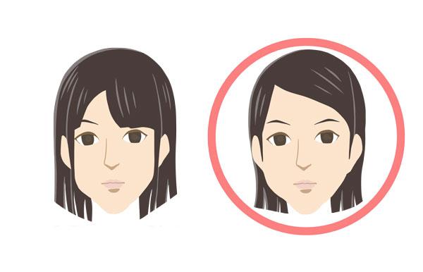 前髪で印象が変わる